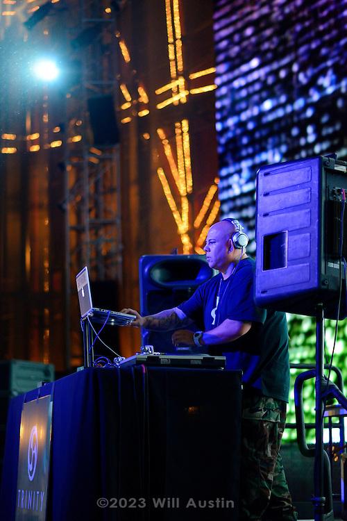EDM showcase with DJ Supreme La Rock at Bumbershoot 2013 in Seattle, WA USA
