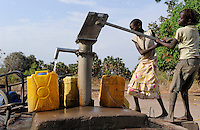 South Sudan, Rumbek, water supply /SUEDSUDAN Rumbek , Handwasserpumpe