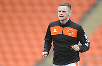 Blackpool's Oliver Turton during the pre-match warm-up <br /> <br /> Photographer Kevin Barnes/CameraSport<br /> <br /> The EFL Sky Bet League One - Blackpool v Oxford United - Saturday 23rd February 2019 - Bloomfield Road - Blackpool<br /> <br /> World Copyright © 2019 CameraSport. All rights reserved. 43 Linden Ave. Countesthorpe. Leicester. England. LE8 5PG - Tel: +44 (0) 116 277 4147 - admin@camerasport.com - www.camerasport.com