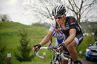 Boy van Poppel (NLD/Trek Factory Racing) up the 'steepest climb' in Holland: Keutenberg (max 22%)<br /> <br /> Amstel Gold Race 2014