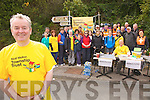 Building Blitz Veteran Colman Quirke from Cahersiveen is preparing for another trip to aid the Niall Mellon Township Trust pictured here on Sunday last at one of his fundraising drives as they prepare to take on the Beentee Loop Walk.