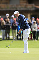 Matthew Fitzpatrick (ENG) takes his birdie putt on the 16th green during Sunday's Final Round of the 2017 Omega European Masters held at Golf Club Crans-Sur-Sierre, Crans Montana, Switzerland. 10th September 2017.<br /> Picture: Eoin Clarke | Golffile<br /> <br /> <br /> All photos usage must carry mandatory copyright credit (&copy; Golffile | Eoin Clarke)