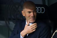 Spanish league football league between Real Madrid vs Levante at Santiago Bernabeu stadium in Madrid on Septemberl 14, 2019.<br /> Real Madrid's coach Zinedine Zidane