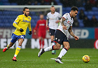 Bolton Wanderers' Josh Magennis breaks<br /> <br /> Photographer Andrew Kearns/CameraSport<br /> <br /> The EFL Sky Bet Championship - Bolton Wanderers v Leeds United - Saturday 15th December 2018 - University of Bolton Stadium - Bolton<br /> <br /> World Copyright &copy; 2018 CameraSport. All rights reserved. 43 Linden Ave. Countesthorpe. Leicester. England. LE8 5PG - Tel: +44 (0) 116 277 4147 - admin@camerasport.com - www.camerasport.com
