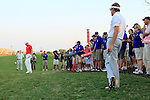 Ian Poulter watches Robert Karlsson play his 2nd shot from the rough on the 18th, 2nd playoff hole, during the Final Day of the Dubai World Championship, Earth Course, Jumeirah Golf Estates, Dubai, 28th November 2010..(Picture Eoin Clarke/www.golffile.ie)