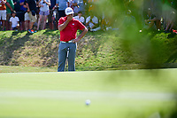 Jon Rahm (ESP) reacts to his long birdie putt on 7 during round 7 of the World Golf Championships, Dell Technologies Match Play, Austin Country Club, Austin, Texas, USA. 3/26/2017.<br /> Picture: Golffile | Ken Murray<br /> <br /> <br /> All photo usage must carry mandatory copyright credit (&copy; Golffile | Ken Murray)