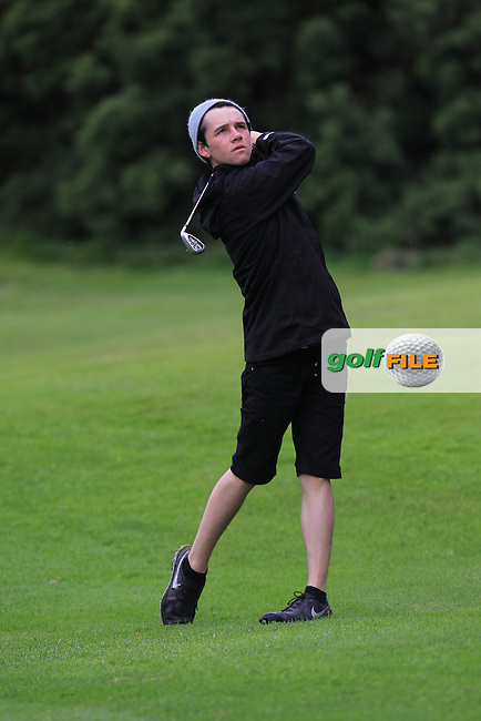 Oisin Fleming (Dun Laoghaire) on the 8th fairway during Round 3 of the 2016 Connacht U18 Boys Open, played at Galway Golf Club, Galway, Galway, Ireland. 07/07/2016. <br /> Picture: Thos Caffrey | Golffile<br /> <br /> All photos usage must carry mandatory copyright credit   (&copy; Golffile | Thos Caffrey)