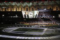 PORTO ALEGRE, RS, 05.04.2014 - REABERTURA DO NOVO BEIRA-RIO - ESPETÁCULO OS PROTAGONISTAS - Estádio Beira-Rio durante a apresentação no evento oficial de reabertura. Estes shows e um jogo amistoso com o Peñarol (domingo, 6) marcam o final de semana dos torcedores do Internacional. A projeção feita em toda extensão do gramado, é o principal atrativo para esta grande festa realizada neste sábado, 5. (Pedro H. Tesch / Brazil Photo Press).