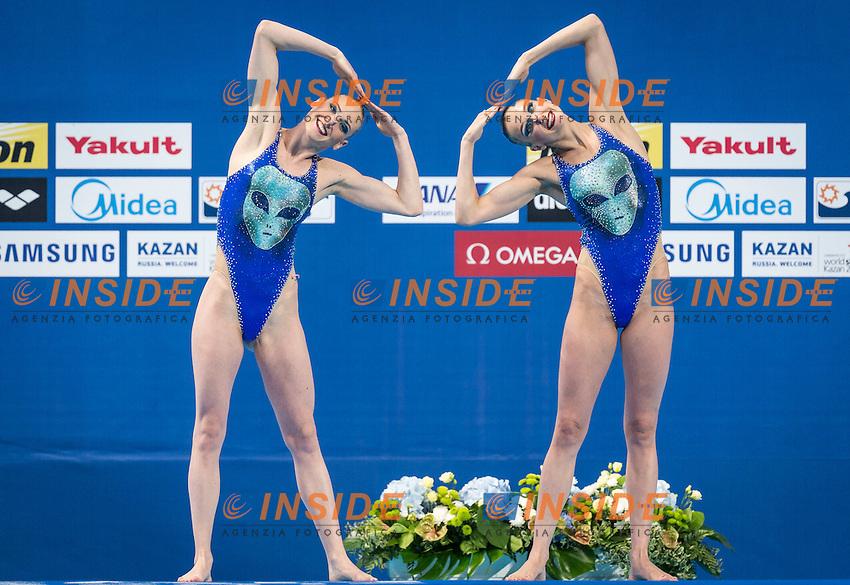 RUS - Russian Federation<br /> ISHCHENKO Natalia ROMASHINA Svetlana<br /> Synchro Solo Free Final<br /> Day6 29/07/2015<br /> XVI FINA World Championships Aquatics<br /> Synchro<br /> Kazan Tatarstan RUS July 24 - Aug. 9 2015 <br /> Photo Giorgio Scala/Deepbluemedia/Insidefoto