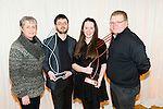 Muireann Ní Mhathúna, Lixnaw, vocalist and Flute winner of the Kerry School of Music Young Musician of the Year  with family Julie Murphy, Donal O'Mahony and John O'Mahony