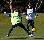 15.03.2019 Rangers training: Andy Halliday and Borna Barisic