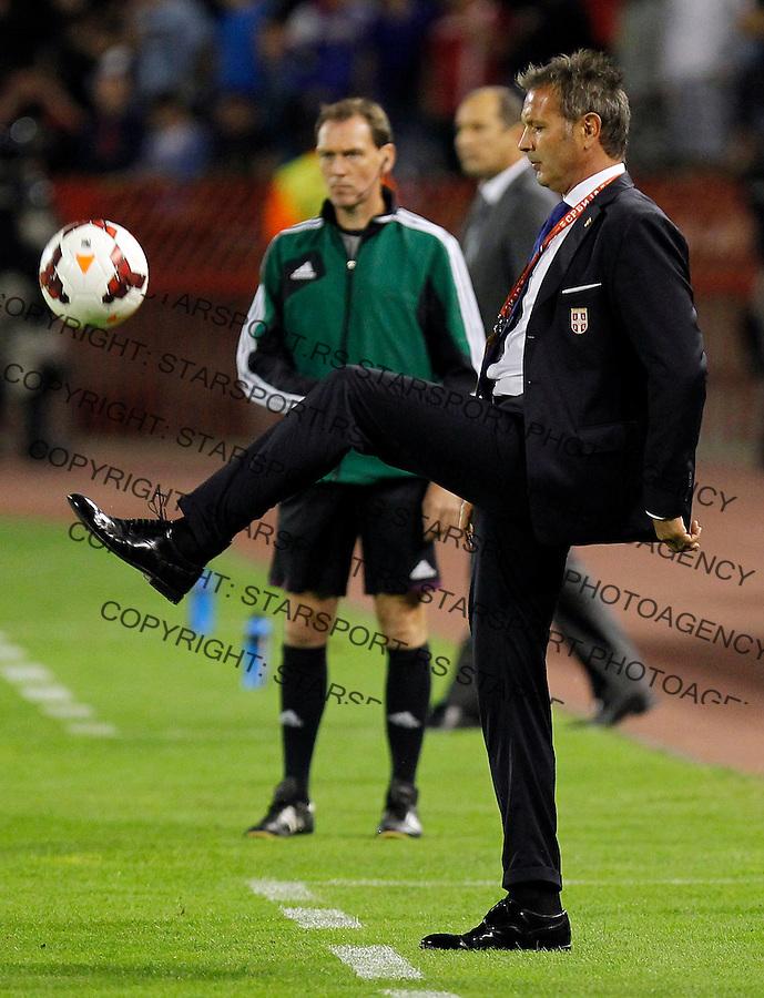 Fudbal Soccer<br /> World Cup 2014 qualifiers match<br /> Serbia v Croatia<br /> Head coach Sinisa Mihajlovic<br /> Beograd, 06.09.2013.<br /> foto: Srdjan Stevanovic/Starsportphoto &copy;