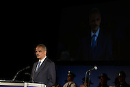 Washington, DC - May 13, 2014: U.S. Attorney General Eric Holder speaks during the candlelight vigil ceremony at the National Law Enforcement Officers Memorial in the District of Columbia.  (Photo by Don Baxter/Media Images International)