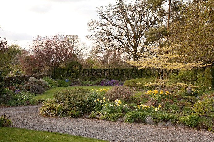 Spring time at Burtown brings out the daffodils and blossom in the packed flowerbeds