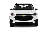 Car photography straight front view of a 2018 Chevrolet Traverse LS 5 Door SUV