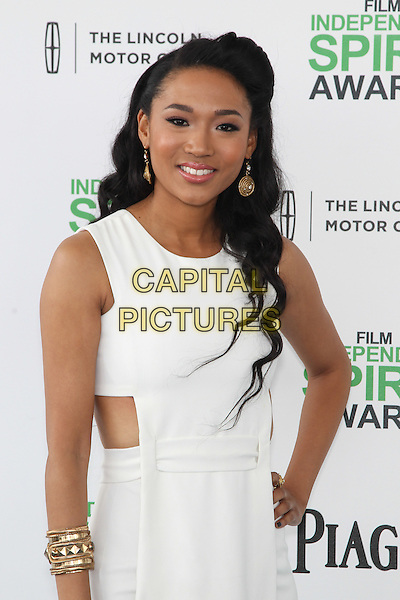 SANTA MONICA, CA - MARCH 1: Judith Hill attending the 2014 Film Independent Spirit Awards in Santa Monica, California on March 1st, 2014. Photo Credit: RTNUPA/MediaPunch<br /> CAP/MPI/RTNUPA<br /> &copy;RTNUPA/MediaPunch/Capital Pictures