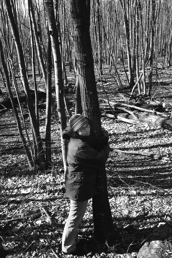 """""""If my doctors had seen me do this, they would have escorted me back to my room on the 14th floor, to keep me penned. Who knew that trees could be killers? They harbor fungi and molds that pose a lethal threat to someone with virtually no immune system. Far from the people and the filth of the streets of Philadelphia, the forest seemed so clean and inviting."""" - Karin Weidenhammer"""