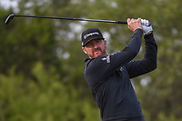 Jimmy Walker (USA) watches his tee shot on 15 during Round 1 of the Valero Texas Open, AT&amp;T Oaks Course, TPC San Antonio, San Antonio, Texas, USA. 4/19/2018.<br /> Picture: Golffile | Ken Murray<br /> <br /> <br /> All photo usage must carry mandatory copyright credit (&copy; Golffile | Ken Murray)