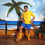 Jorge Vasquez, colombiano, ritratto alla Entrega tropical, discoteca sudamericana a Mirafiori. <br /> Colombian football player in Balon Mundial, tournament for immigrants living in Piedmont.