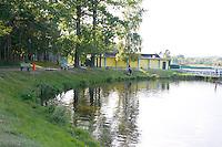 Lake at city park.  Rawa Mazowiecka  Central Poland