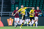 Borussia Dortmund Midfielder Christian Pulisic (L) in action during the International Champions Cup 2017 match between AC Milan vs Borussia Dortmund at University Town Sports Centre Stadium on July 18, 2017 in Guangzhou, China. Photo by Marcio Rodrigo Machado / Power Sport Images