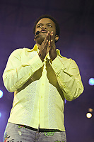 Luck Mervil performs at the Saint-Jean-Baptiste show on the Plains of Abraham Thursday June 23, 2005.