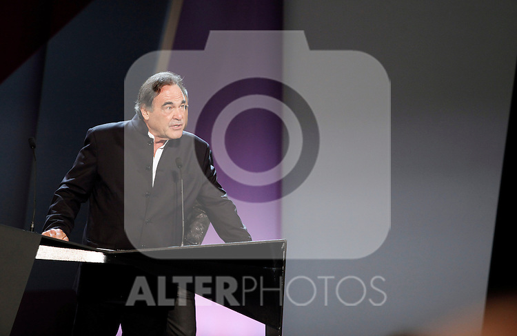 Oliver Stone during the 61st San Sebastian International Film Festival's opening ceremony, in San Sebastian, Spain. September 20, 2013. (ALTERPHOTOS/Victor Blanco)