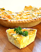 Stock Photo Slice of Quiche