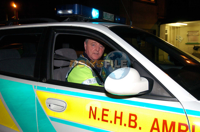 Joe Smith Communications Officer with the NEHB.Ambulance Feature.Picture Fran Caffrey Newsfile