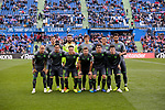 Real Sociedad's team photo with Miguel Angel Moya, and Asier Illarramendi, Igor Zubeldia, Hector Moreno, Juan Miguel Jimenez, Mikel Oyarzabal, Willian Jose Da Silva, Antoni Gorosabel, Theo Hernandez, Alberto de la Bella and Le Normand during La Liga match between Getafe CF and Real Sociedad at Coliseum Alfonso Perez in Getafe, Spain. December 15, 2018. (ALTERPHOTOS/A. Perez Meca)