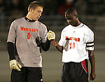 1 November 2006: Maryland's Maurice Edu (10) and goalkeeper Chris Seitz (0). Maryland defeated Boston College 1-0 in double overtime at the Maryland Soccerplex in Germantown, Maryland in an Atlantic Coast Conference college soccer tournament quarterfinal game.