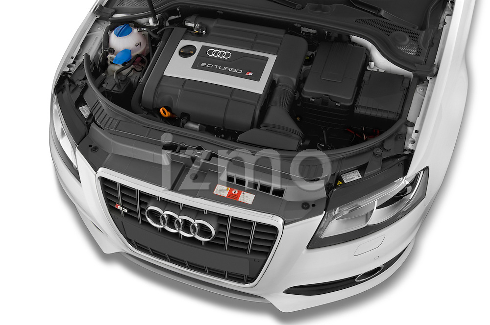 High angle engine detail of a 2009 - 2013 Audi S3 Sportback 5-Door Hatchback 4WD.