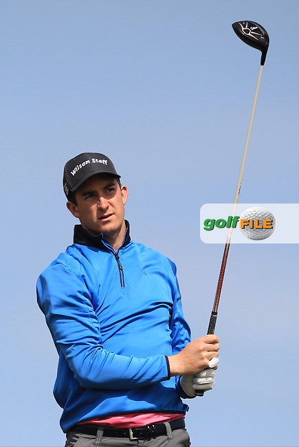 John Hickey (Cork) on the 14th tee during Round 1 of the Flogas Irish Amateur Open Championship at Royal Dublin on Thursday 5th May 2016.<br /> Picture:  Thos Caffrey / www.golffile.ie