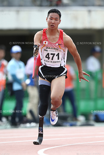 Mikio Ikeda,<br /> MAY 1, 2016 - Athletics :<br /> Japan Para Athletics Championships<br /> Men's 4x100m Relay T42/T44/T47 Final<br /> at Coca Cola West Sports Park, Tottori, Japan.<br /> (Photo by Shingo Ito/AFLO SPORT)