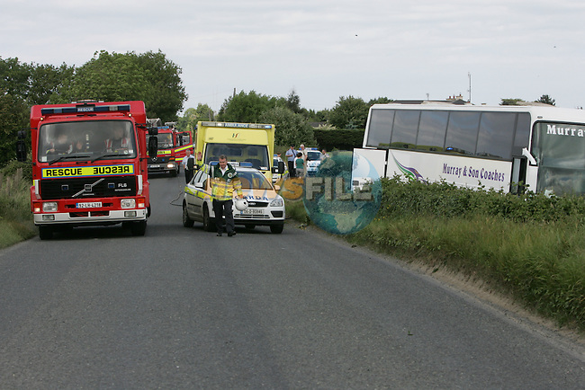 The scene of the bus crash where 44 children escaped serious injury outside drogheda...Photo NEWSFILE/Fran Caffrey.(Photo credit should read Fran Caffrey/NEWSFILE)....This Picture has been sent you under the condtions enclosed by:.Newsfile Ltd..The Studio,.Millmount Abbey,.Drogheda,.Co Meath..Ireland..Tel: +353(0)41-9871240.Fax: +353(0)41-9871260.GSM: +353(0)86-2500958.email: pictures@newsfile.ie.www.newsfile.ie.FTP: 193.120.102.198.
