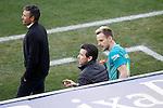 FC Barcelona's coach Luis Enrique Martinez (l), his second Juan Carlos Undue (c) and Ivan Rakitic during La Liga match. February 26,2017. (ALTERPHOTOS/Acero)