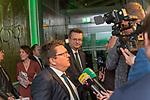 04.02.2019, Dorint Park Hotel Bremen, Bremen, GER, 1.FBL, 120 Jahre SV Werder Bremen - Gala-Dinner<br /> <br /> im Bild<br />  Dr. Hubertus Hess-Grunewald (Geschäftsführer Organisation & Sport SV Werder Bremen) im Interview hinten Reinhard Grindel (DFB Präsident)<br /> <br /> Der Fussballverein SV Werder Bremen feiert am heutigen 04. Februar 2019 sein 120-jähriges Bestehen. Im Park Hotel Bremen findet anläßlich des Jubiläums ein Galadinner statt. <br /> <br /> Foto © nordphoto / Ewert