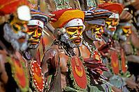 Papua New Guinea, Western Highlands Province, Mt. Hagen Cultural Show, men.
