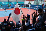 Japan team group (JPN),<br /> AUGUST 30, 2018 - Soft Tennis : <br /> Mixed Doubles  Semi-final <br /> at Jakabaring Sport Center Tennis Courts <br /> during the 2018 Jakarta Palembang Asian Games <br /> in Palembang, Indonesia. <br /> (Photo by Yohei Osada/AFLO SPORT)