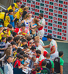 Action on Day 1 of the Cathay Pacific / HSBC Hong Kong Sevens 2013 at Hong Kong Stadium, Hong Kong. Photo by Manuel Queimadelos / The Power of Sport Images