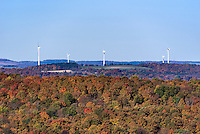 Wind farm, Madison, New York, USA