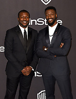 LOS ANGELES, CALIFORNIA - JANUARY 06: Edwin Hodge and Aldis Hodge attend the Warner InStyle Golden Globes After Party at the Beverly Hilton Hotel on January 06, 2019 in Beverly Hills, California. <br /> CAP/MPI/IS<br /> &copy;IS/MPI/Capital Pictures