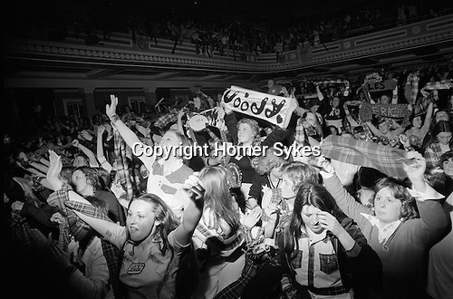 Bay City Rollers pop group boy band fans Newcastle UK 1970s