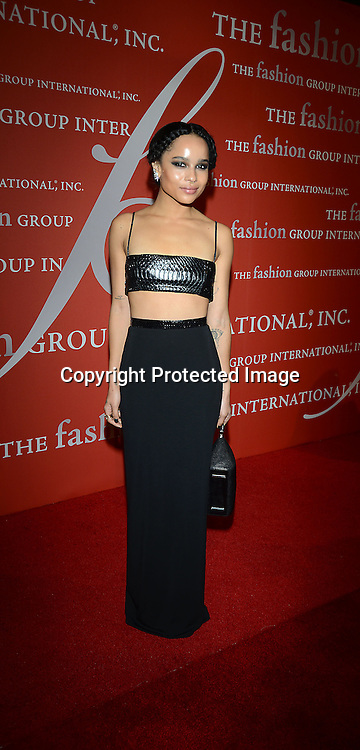 Zoe Kravitz attends the Fashion Group International's Night of Stars Gala on October 22, 2013 at Cipriani Wall Street in New York City.