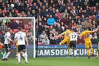 Sheffield United's John Egan scores his sides second goal <br /> <br /> Photographer Mick Walker/CameraSport<br /> <br /> The EFL Sky Bet Championship - Sheffield United v Preston North End - Saturday 22 September 2018 - Bramall Lane - Sheffield<br /> <br /> World Copyright © 2018 CameraSport. All rights reserved. 43 Linden Ave. Countesthorpe. Leicester. England. LE8 5PG - Tel: +44 (0) 116 277 4147 - admin@camerasport.com - www.camerasport.com