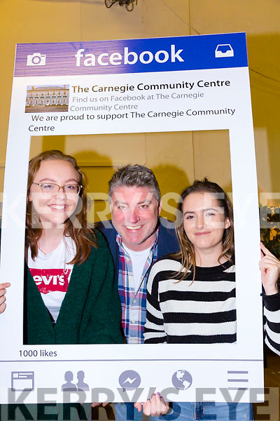 Helping to save the Cahersiveen Community Centre one click at a time were l-r; Sarah Landers, Pat Shortt & Caoimhe O'Shea.