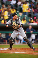 Jackson Generals catcher Steve Baron (8) during a game against the Montgomery Biscuits on April 29, 2015 at Riverwalk Stadium in Montgomery, Alabama.  Jackson defeated Montgomery 4-3.  (Mike Janes/Four Seam Images)