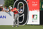 Brett Rumford tees off on the 9th tee during Day 1 of the Dubai World Championship, Earth Course, Jumeirah Golf Estates, Dubai, 25th November 2010..(Picture Eoin Clarke/www.golffile.ie)