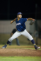 Helena Brewers relief pitcher Harold Chirino (30) in action against the Great Falls Voyagers at Centene Stadium on August 19, 2017 in Helena, Montana.  The Voyagers defeated the Brewers 8-7.  (Brian Westerholt/Four Seam Images)