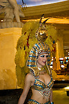 Entertainer Cleopatra at Casears Palace in Las Vegas Nevada, NV, Las Vegas, city, entertainment, entertainer, Cleopatra, Caesars Palace and Casino, model release, nvlvcity282.Copyright: Lee Foster, www.fostertravel.com, 510-549-2202,lee@fostertravel.com